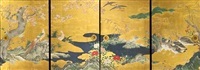 birds and flowers (set of 4) by japanese school-kano (18)
