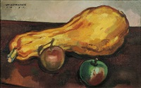 a squash and two apples by william horace littlefield
