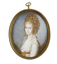 porträtt av ung högreståndskvinna by johann heinrich tischbein the younger