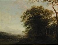 pastoralt landskap by gerrit (gerard) battem