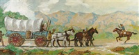 stagecoach crossing the frontier by john garth