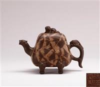 ancient beast teapot by xu hantang