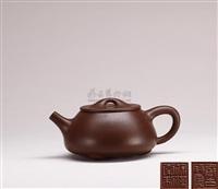 large stone weight teapot by xu hantang