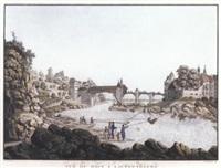 vue du rhin à lauffenbourg en suisse by georg friedrich gmelin
