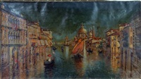 waterway in venice by w. livingston anderson