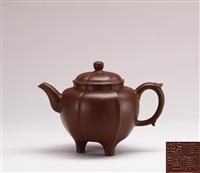 tripodal teapot by xu hantang