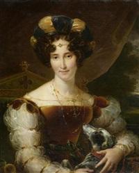 portrait einer edlen dame mit hündchen by john jackson