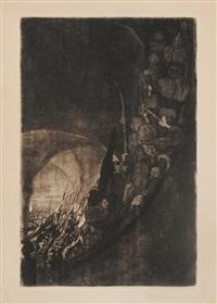 bewaffnung in einem gewölbe by käthe kollwitz