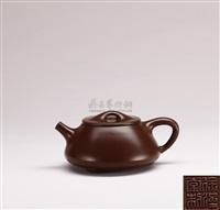 small stone weight teapot by xu hantang