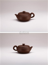 ancient lotus nut teapot by xu xiutang