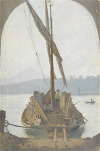 segelschiff mit fracht (+ 4 others; 5 works) by edouard jeanmaire