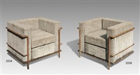 grand confort sans confort armchairs (pair) by stefan zwicky