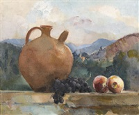 fruits dans un paysage by guillaume dulac