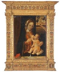 maria lactans by ambrogio da (il bergognone) fossano