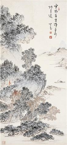 春光野色图 spring landscape by pu ru