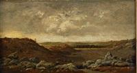 les gorges d'apremont en forêt de fontainebleau by théodore rousseau
