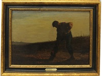 man in field by jean françois millet