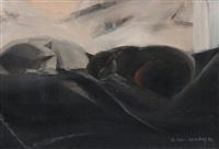 zwei schlafende katzen by isabelle tabin-darbelley