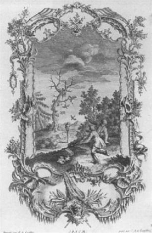 dekorationsentwurf by francois de cuvillies the elder