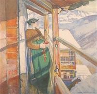 vor dem kirchgang by edouard (eugène françois) vallet