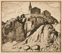 eglise en valais by edouard (eugène françois) vallet
