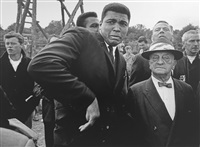 Muhammad Ali scared by a bee while visiting..., 1966