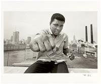 Muhammad Ali on a bridge overlooking the..., 1966