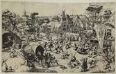 the kermis of saint george (engraved by jan or lucas doetecum) by pieter brueghel the elder