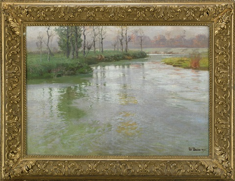 au bord de la canche or on the banks of the canche at montreuil sur mer by frits thaulow