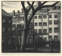 louisburg square (+ 3 others, smllr; 4 works) by thomas willoughby nason