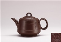 teapot in the style of bamboo by xu chengquan