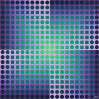 planetory folklore participation no. 2 (3 works) by victor vasarely