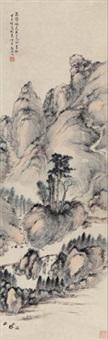 仿吴镇山水 (landscape) by huang jun