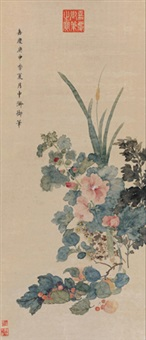 花果图 (flowers) by emperor jiaqing