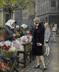 vid blomstertorget by paul gustave fischer