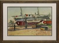 boats in dry dock by ranulph bye