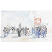 historischer umzug mit einer kutsche by friedrich traffelet