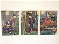 kabuki (3 works) by toyohara chikanobu