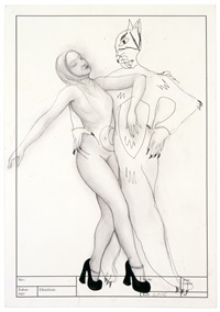 beauty and the beast (dance) ii by rita ackermann
