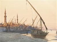 nilufer mit felukke und minaretten by wilhelm lauter