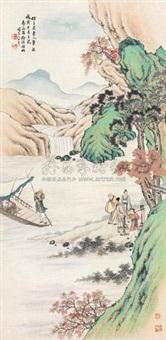 溪山游渡图 by xu yuanfang