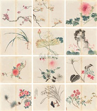 untitled (album w/12 works) by liu guanwen