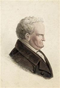 brustbildnis eines älteren mannes im profil nach rechts by carl-alexander von heideloff