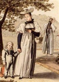 une fille d'enfant by johann georg volmar