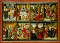 scenes from the life of christ by german school-cologne (16)
