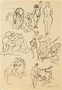 studi per sculture by lucio fontana