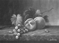 peaches and grapes by tony jankowski