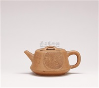 zhushu (ancient plinth) shaped teapot by ren ganting
