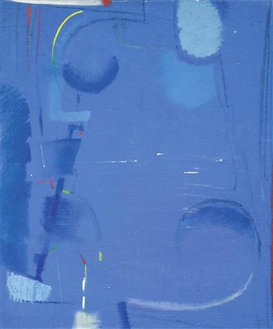 komposition in blau by max ackermann