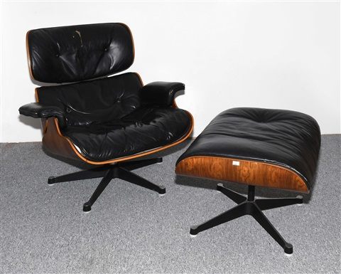 Attraktiv Lounge Sessel Mit Ottoman, Modell Nr. 670 By Charles And Ray Eames